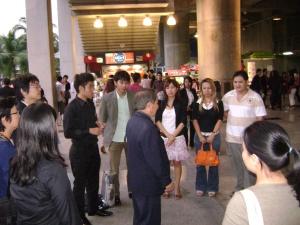 After meeting ก่อนกลับบ้านสรุปความประทับและแลกเปลี่ยนประสบการณ์ในกลุ่ม